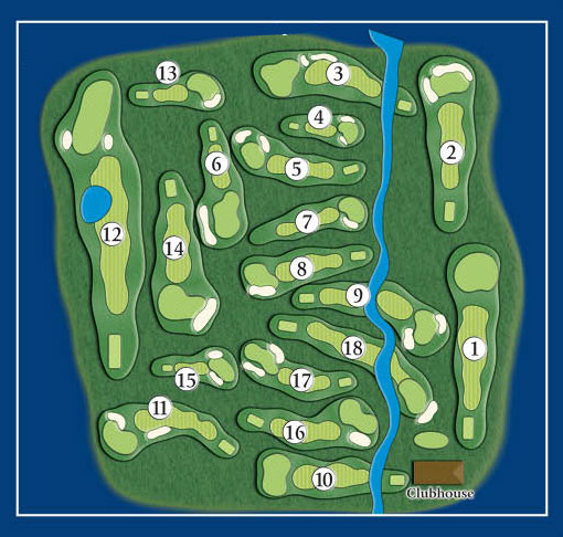Course Layout Bunker Hill Golf Club